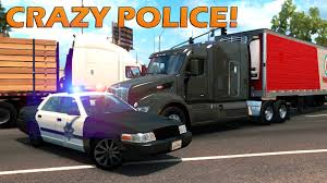 American Truck Simulator - NEW POLICE!! - YouTube