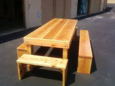8ft wrapped over sized Douglas Fir picnic table with clear