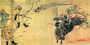 An Image From Japanese Martial Arts History The Suenaga Scroll Shows Earl Samurai On