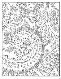 Paisley Designs Coloring Pages Colori