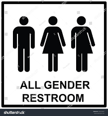 Gender Inclusive Bathroom Sign by All Gender Restroom Sign Male Female Stock Vector 426274537