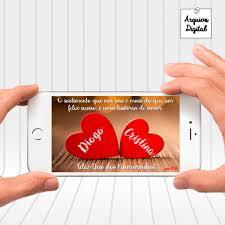 Cartão De Amor With Love Dia Dos Namorados Aniversário