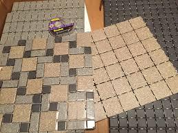s diy daltile mosaic tile floor retro renovation