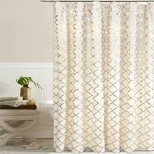 Bed Bath And Beyond Semi Sheer Curtains by 49 Best Shower Curtains White U0026 Gold Metallic Images On