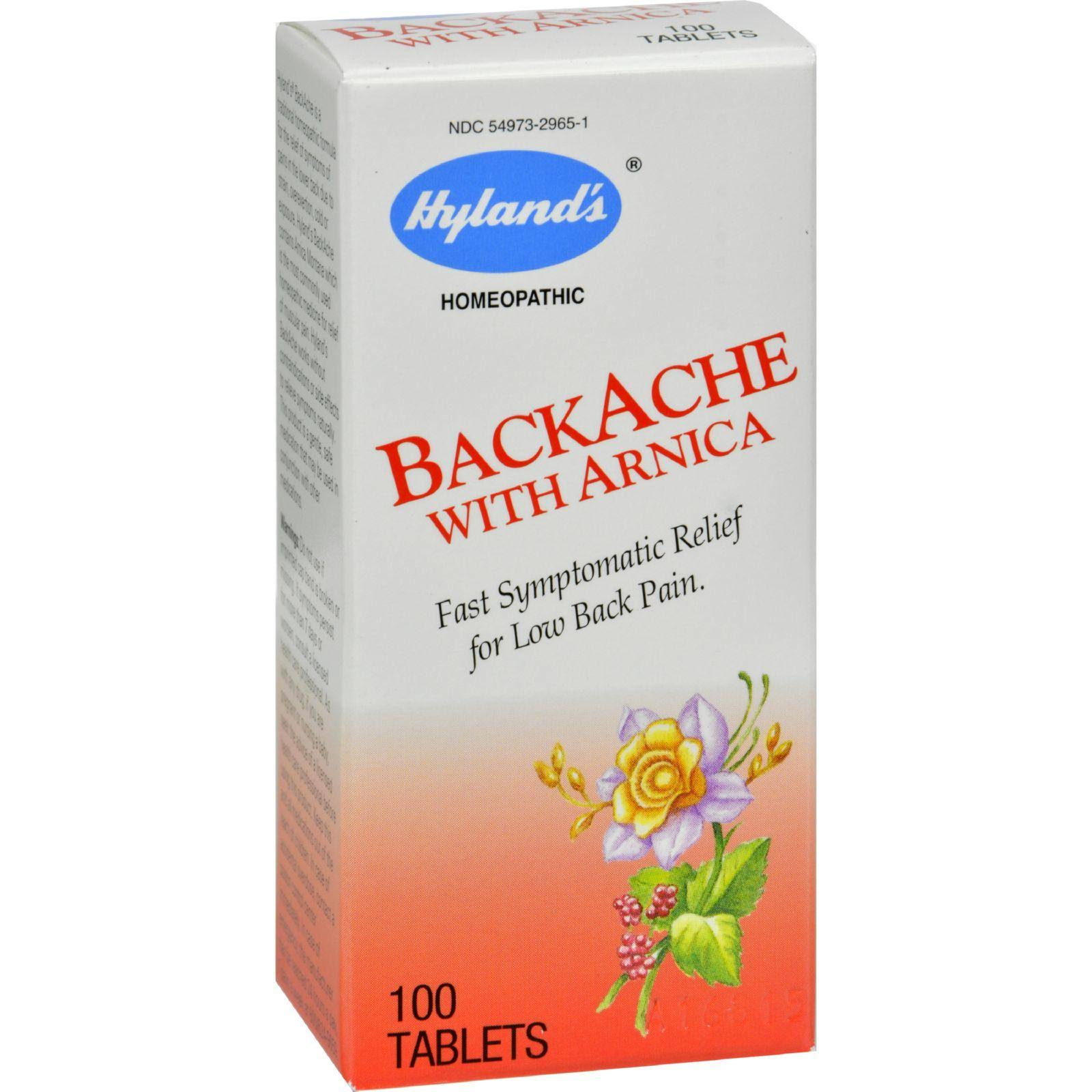 Hylands Homeopathic Backache With Arnica - 100 Tablets