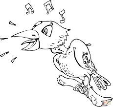 Click The Raven Is Singing Coloring Pages