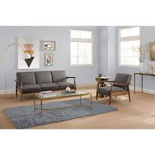 Kebo Futon Sofa Bed Weight Limit by Better Homes And Gardens Flynn Mid Century Chair Wood With Linen
