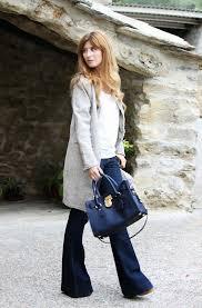 Look Outfit Street Style Pantalon De Campana Abrigo Tweet Michael Kors Bag A Trendy Life012JPG 640