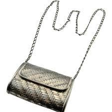 sterling silver handbag unique bags silver purse woven basket with