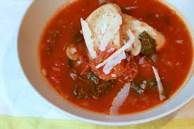 The Definition Of Rustic Woodsman Soup Tomato Bread With Swiss Chard