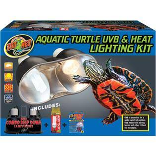 Zoo Med Aquatic Turtle UVB and Heat Lighting Kit