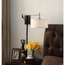 antique brass and bronze swing arm wall sconce fixture free