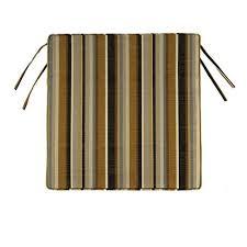 Replacement Patio Chair Cushions Sunbrella by Home Decorators Collection Sunbrella Espresso Stripe Square