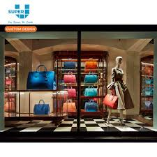 Brand New High End Luxury Fashion Retail Store Window Display Bag Vitrine Design