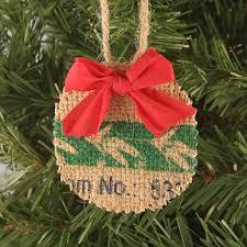 DIY Rustic Burlap Christmas Ornament Via Craftpenguin