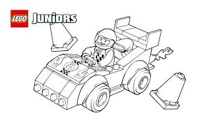 LEGOR Juniors Race Car Coloring Page