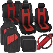Amazon.com: PolyCloth Sport Seat Covers Rubber Floor Mats & Steering ... Blue Black Car Seat Covers With Headrest For Auto Truck Stek Shop Complete Pu Leather Set Gray For Bestfh Sedan Suv Van Luxury Floor Mats And Covers Cover Men Diamond 2pc Universal Bdk 4piece Scottsdale Fabric Front Saddle Blanket Unlimited 47 In X 23 1 Full Cloth Fit Camouflage Pickup Built In Belt Hq Issue Tactical Cartrucksuv 284676 Browning 284675 Ford By Clazzio