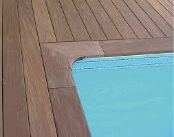 margelle piscine en bois margelles de piscine en bois ipé en auvergne equation
