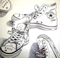 Adult Coloring Page Converse Shoes