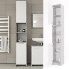 vicco badschrank kiko grau beton badezimmerschrank hochschrank badmöbel holzregal schrank badregal