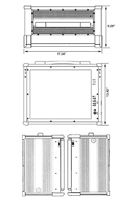 Mechanical Drawing Of MPC 9000 Expandable And Upgradeable Lunch Box