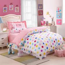 Kids Colorful Polka Dot Cute forter Bedding Sets Twin Size 100