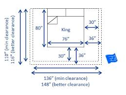 Bed sizes and space around the bed