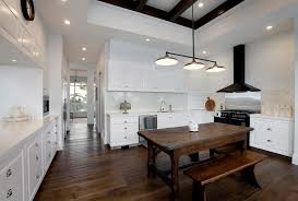 rustic billiard lights kitchen farmhouse with ceiling detail