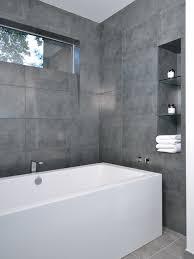 large format grey brilliant grey tile bathroom bathrooms remodeling