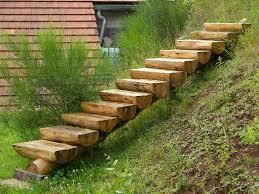 des idées d escalier en bois pour le jardin escaliers en bois