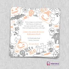 Free Printable Scary Halloween Invitation Templates by Skull Halloween Party Invitation Flyer Stock Vector Image 59502430
