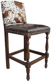 Colton Cowhide Bar Stool | John Proffitt