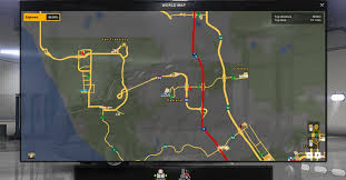 100 Gps With Truck Routes Background Map And Nav Icons Map Gps And Route Advisor For ATS