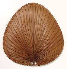 Palm Leaf Ceiling Fan Blades Covers by Blades Palm Bamboo For Ceiling Or Wall Mount Fan The Punkah