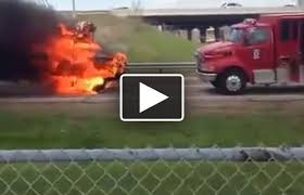 99 Youtube Truck Flaming School Bus Rolls Toward Fire Truck 1061 The Corner