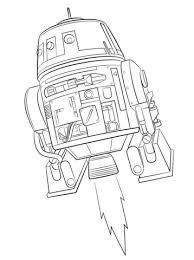 Star Wars Rebels Chopper Coloring Page