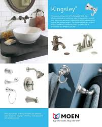 Moen Kingsley 2 Handle Bathroom Faucet by Moen Kingsley 2 Handle Moentrol Valve Trim Kit In Brushed Nickel