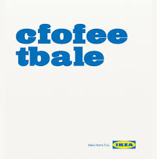 The IKEA As An Example Of Inspirational Typography In Print Ads