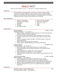 Resume Examples Software Engineer It Emphasis Samples Experienced