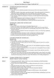 Download Veterinary Resume Sample As Image File