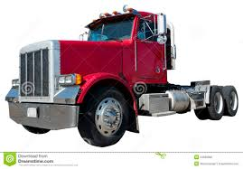 18 Wheeler Semi Tractor Trailer Truck Isolated Stock Photo - Image ...