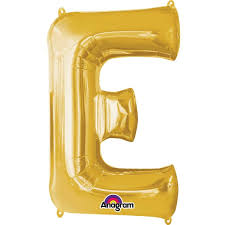 Extra Large Gold Foil Balloon Letter E Hobbycraft