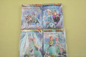 Hot Sale Frozen Fever Cartoon Kids Coloring Book With Stickers Drawing Children Gift Four Versions Fast Shippin Lfrozen