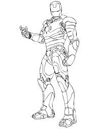 Iron Man Coloring Pages Online 1 Page Pdf To Print Book