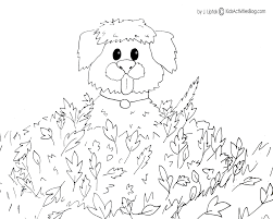 Lofty Idea Printable Autumn Coloring Pages Dog Playing
