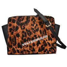 best luxury fashion women patchwork horse fur bags leopard print