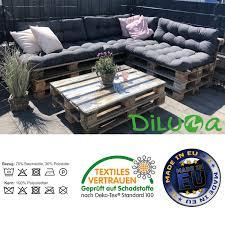 diluma palettenkissen tino lounge set sitzkissen langes rückenkissen