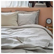 ikea king size duvet cover set white grey modern 240 x 220 cm
