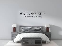 land design schlafzimmer wand modell mit grauen farbe möbel
