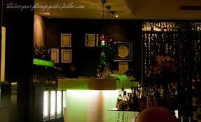 If The Size Of Little Truffles Dining Room Was Akin To A Glass Riesling Then Absynthe Its Namesake Drink In Tidy Shot